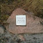 Gedenkstein für die Opfer der Arcona.